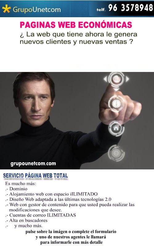 Diseño de páginas web BARATAS